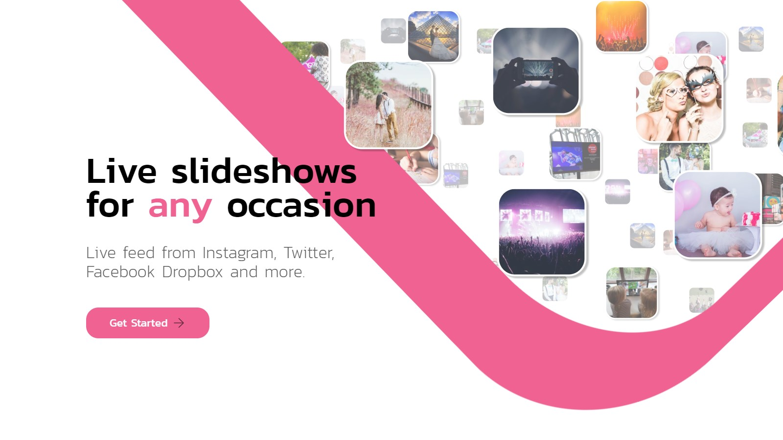 Live slideshows for any occasion - Slidesome